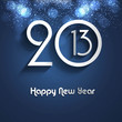 New year creative 2013 bright blue colorful vector background