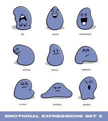emotional expressions set 5