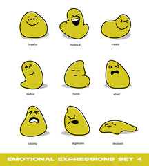 emotional expressions set 4