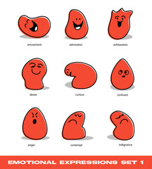 emotional expressions set 1