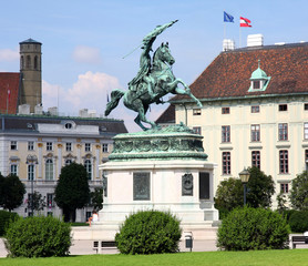 Monument Archduke Charles (Erzherzog Karl) on Heldenplatz in Vie