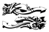 Black and white graffiti backgrounds