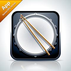 Drum musical app icon