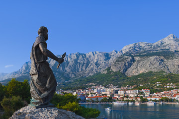 Statue of St. Peter at Makarska, Croatia