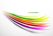 Colorful wavy lines