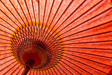 Japanese style red umbrella