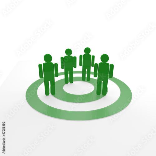 Gruppe Kunden grün