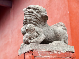 Auspicious Chinese Stone Lion