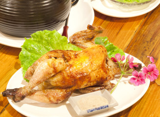 Taiwanese styled roasted chicken.