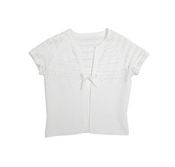 clothes for females - white elegant vest on a white background