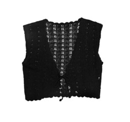 clothes for females - black elegant vest