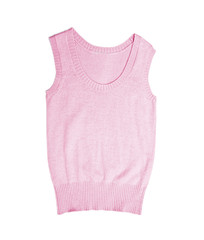 clothes for females - pink elegant wool vest