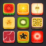 background for the app icons-fruits part_2