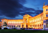 Fototapety Vienna Hofburg Imperial Palace at night, - Austria