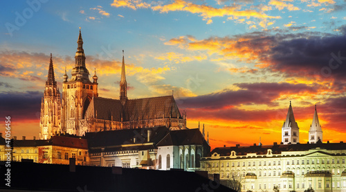 Fototapeta Prague Castle at sunset - Czech republic