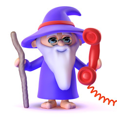 Wizard answers the helpline
