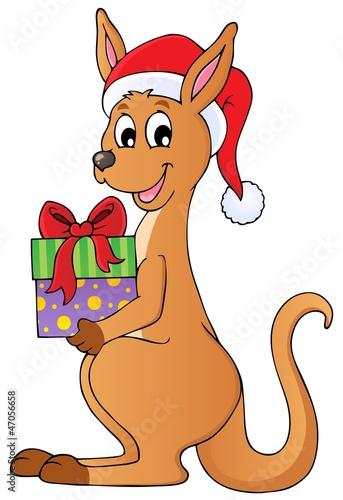 Christmas kangaroo theme image 1