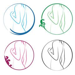 corps femme dans cercle