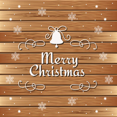 vintage Christmas sign on wooden background