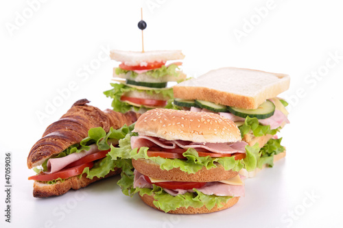 assortment of sandwich