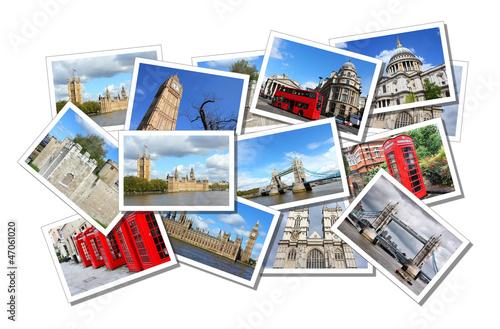 Leinwanddruck Bild London postcards