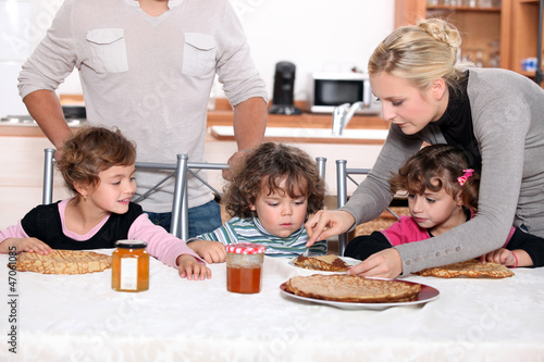 Children having a snack