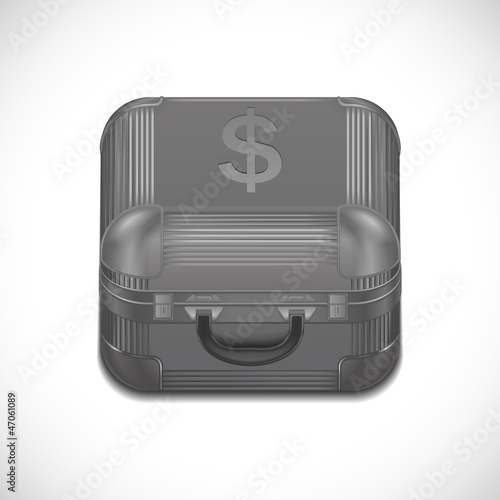 Vector suitcase with money