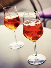Cold spritzer drink - tasty refreshment