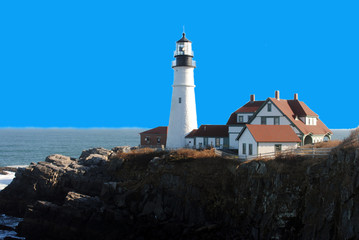 Portland Head Lighthouse, Cape Elizabeth, Maine USA