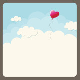 heart balloon in the sky
