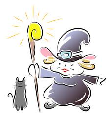 魔女と黒猫と魔法の杖