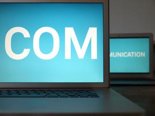 communication, 2 laptops