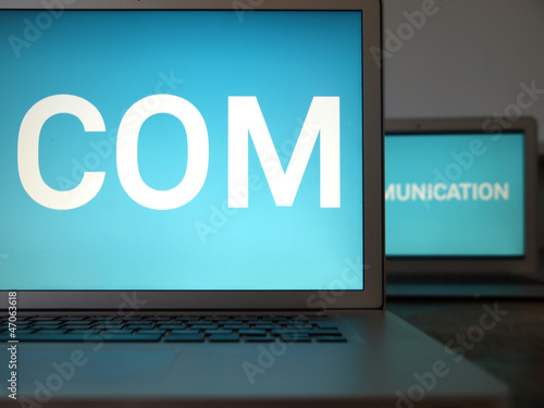 communication, 2 laptops