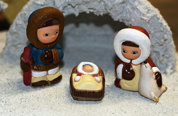 Nativity ethnic with the Holy family of Nazareth