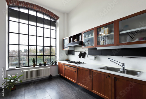 beautiful house, interior, view of the kitchen