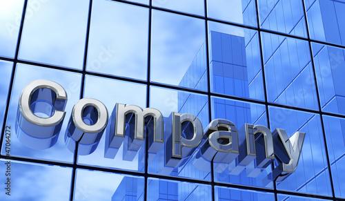 Company Fassade Blau Silber