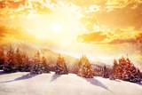 Winter magic mountains