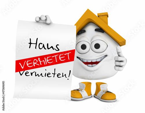 Kleines 3D Haus Orange - Haus zu vermieten! - Vermietet