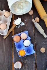 eggs and  farina