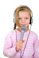 Mädchen als Sängering