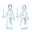 enfants de choeur cierge