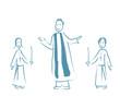 Enfants de choeur église cierge