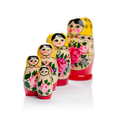 Russian nesting doll family