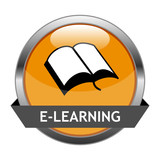 Fototapety Vector Button E-Learning