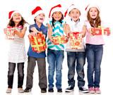 Generous Christmas kids