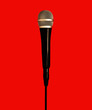 mic on red