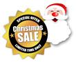 "Star-shaped Sticker ""Christmas Sale"""