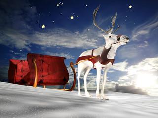 Reindeer Sleigh Dusk