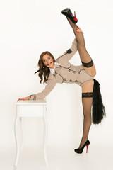 Akrobatische Tänzerin