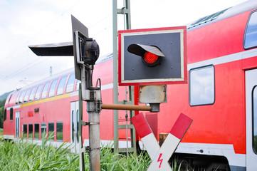 Bahnübergang Gefahrenstelle